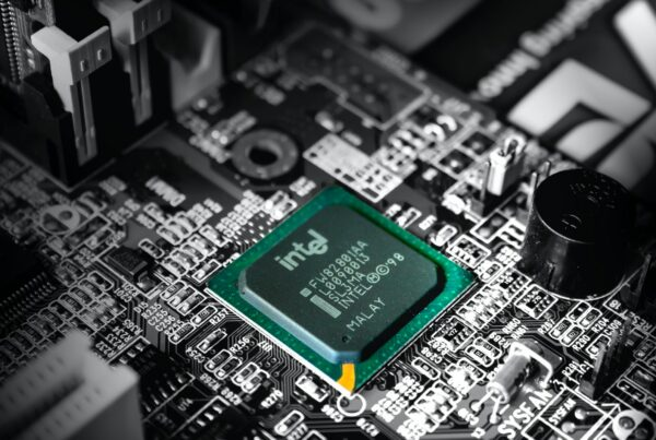Intel computer processor in selective color photography the chip shortage is affecting telecom